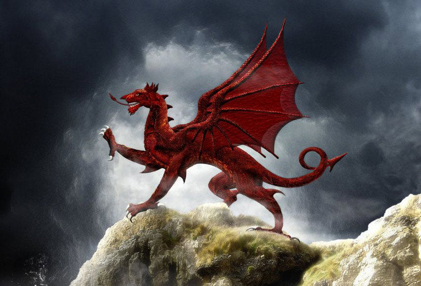 The red dragon, symbol of wales