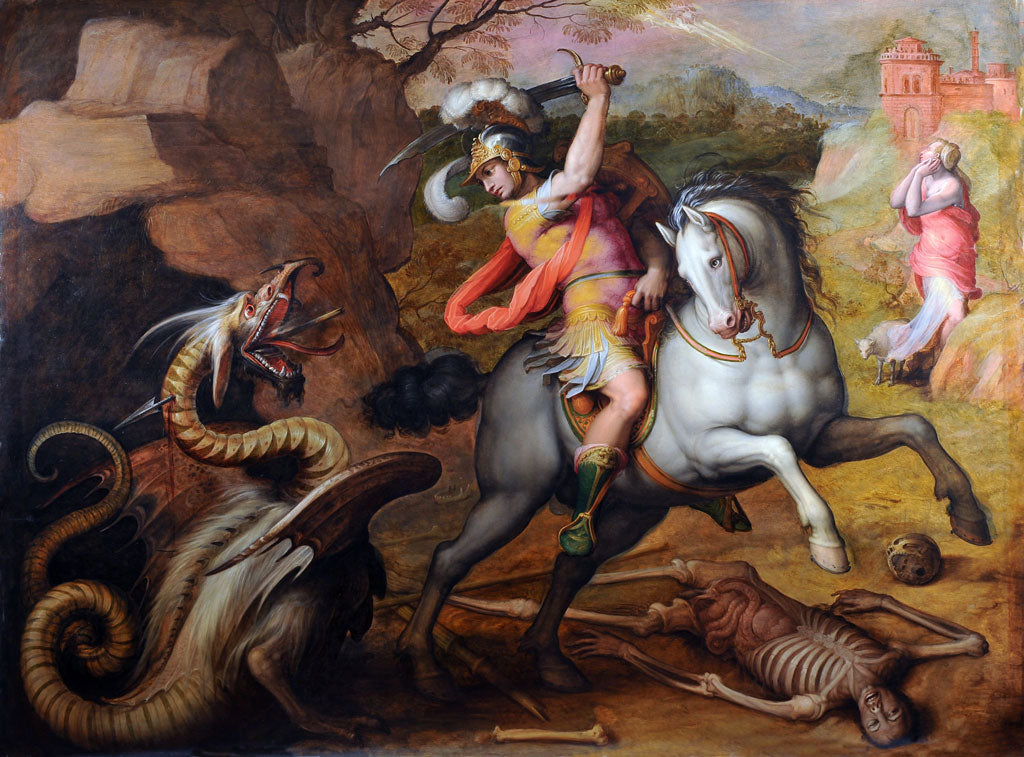 Saint George slaying the dragon by Giorgio Vasari, 1551
