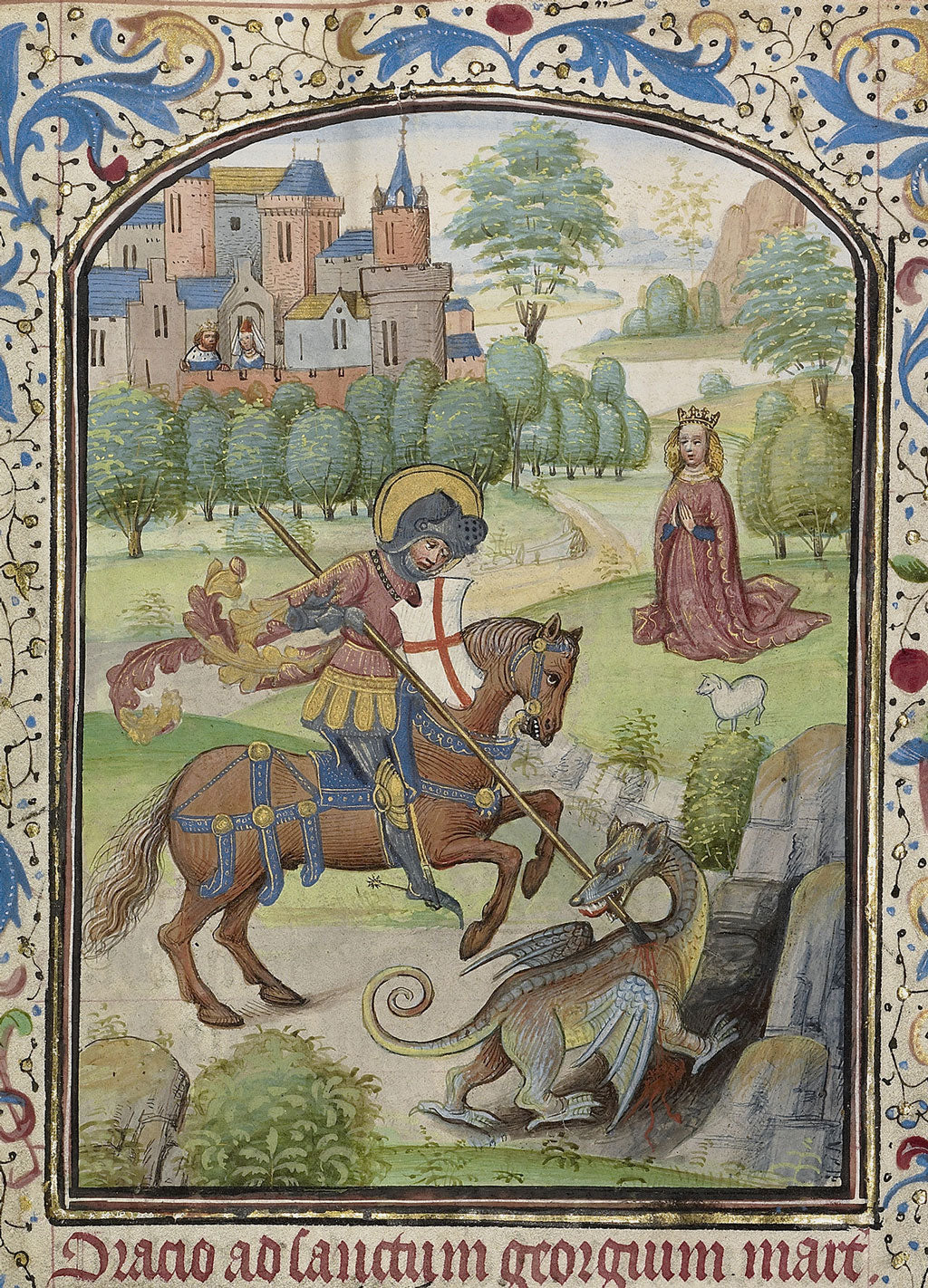 Saint George Slaying the Dragon, Arenberg Hours Bruges (1460)