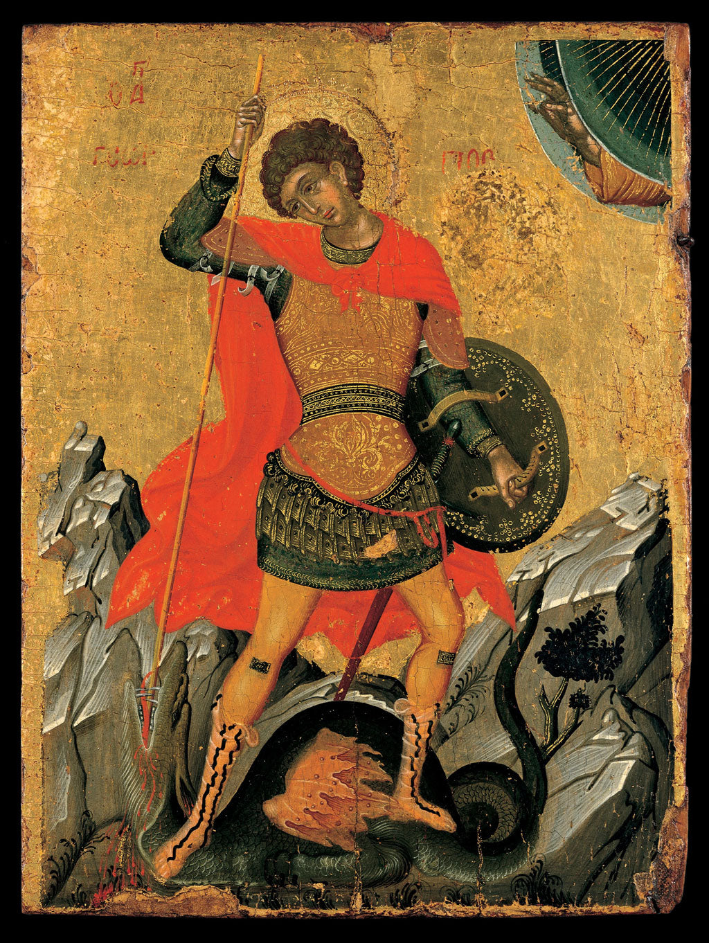 Saint George and the Dragon, Greek Painting