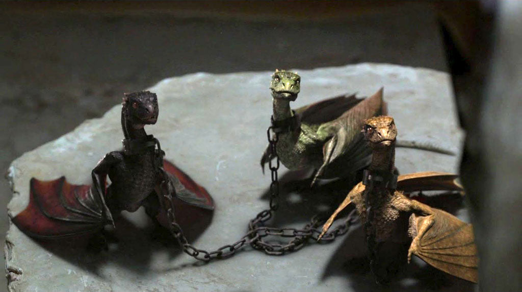 chained dragons