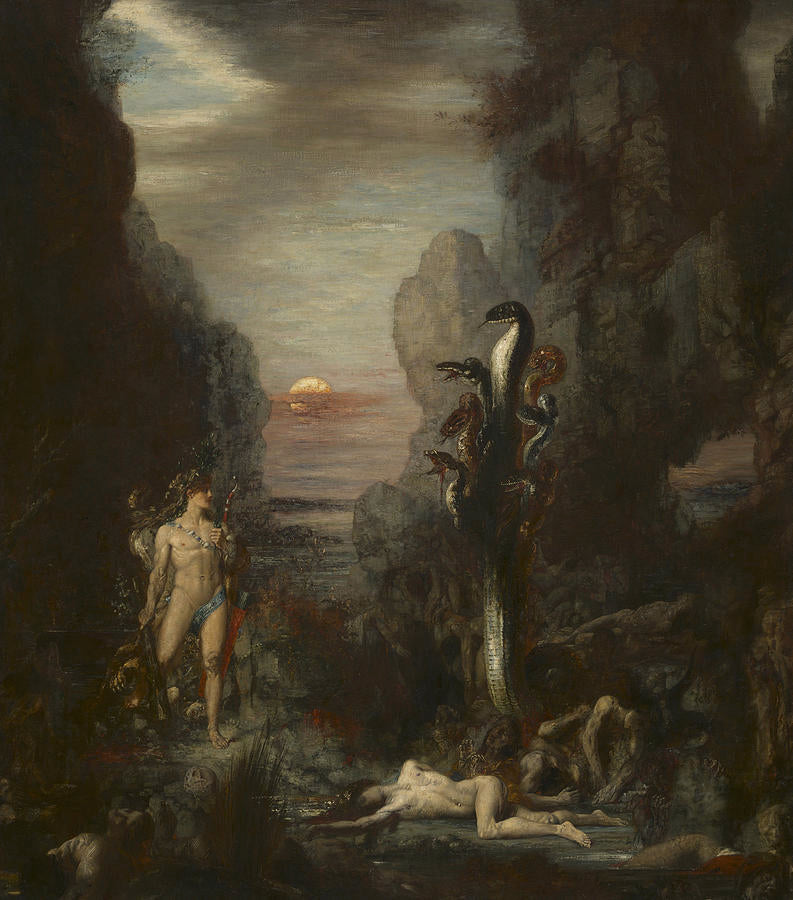 Hercules And The Lernaean Hydra Painting by Gustave Moreau