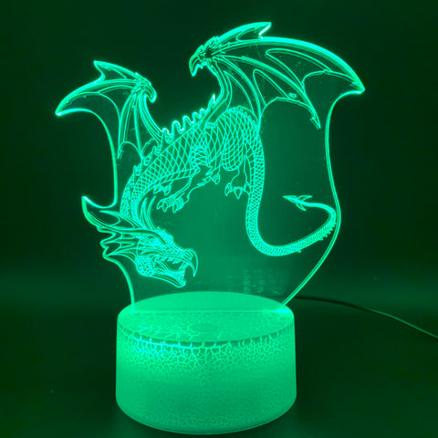 3D Illusion Lamp Dragon