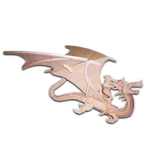 3D Wood Puzzle of the Dragon and Warrior