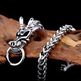 Braided Chain Dragon Bracelet (Stainless Steel)