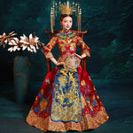 Ancient Chinese Dragon and Phoenix Wedding Dress