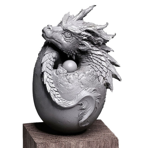 Baby Dragon Egg Figurine