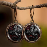 Black Dragon Earrings