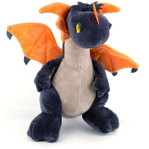 Black Dragon With Orange Wings Plush