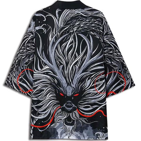 Black and Red Dragon Kimono