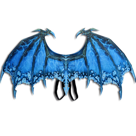 Blue Dragon Wings Costume