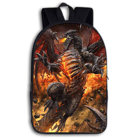 Burning Dragon Skeleton Backpack