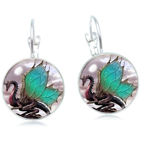 Butterfly Dragon Earrings (silver)
