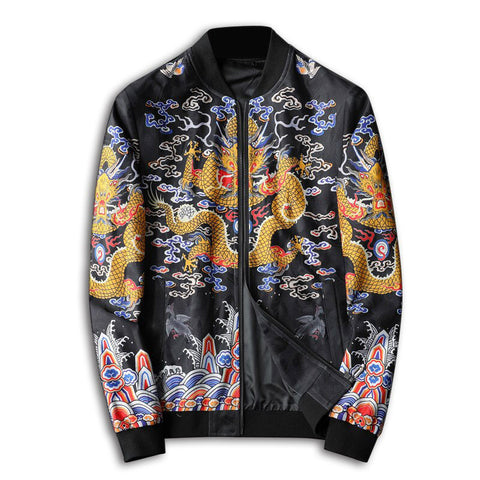 Ancestral Chinese Dragon Bomber Jacket