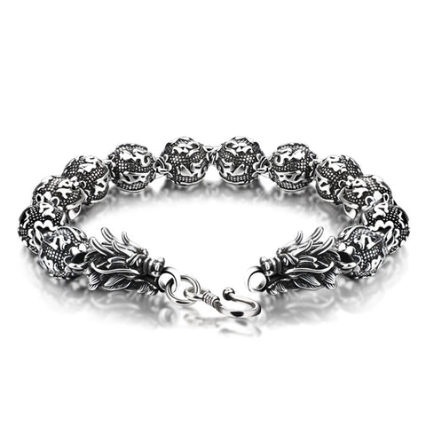 Chinese Dragon Bracelet made of Silver