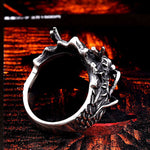 Chinese Dragon Head Ring (Stainless Steel)