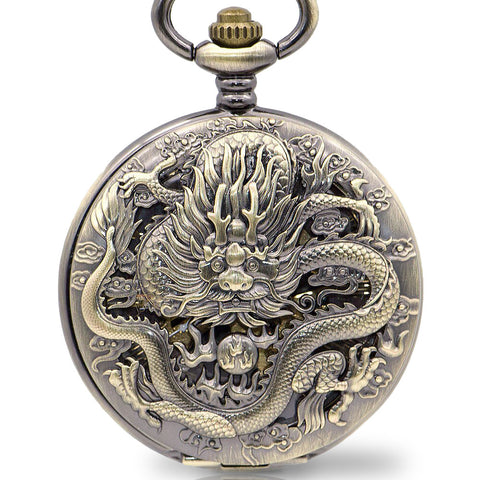 Chinese Luck Dragon Pocket Watch (Mechanical)