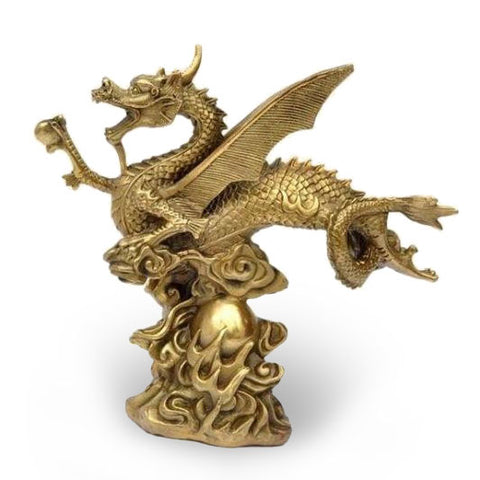 Chinese Flying Dragon Statue