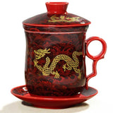 Chinese Dragon Tea Mug (red)