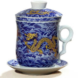 Chinese Dragon Tea Mug (blue)