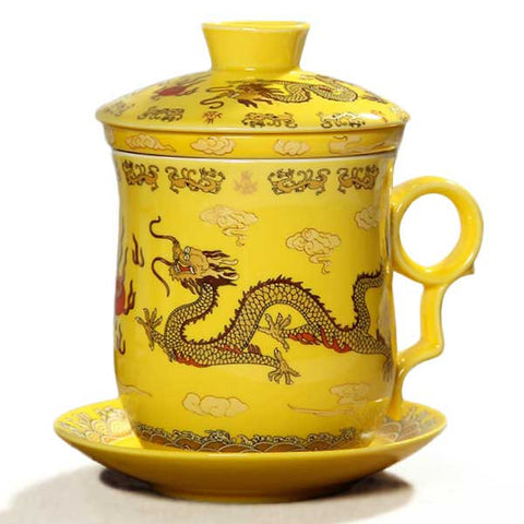 Chinese Dragon Tea Mug (yellow)