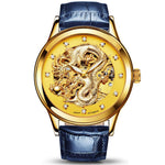 Chinese Dragon Watch (Gold and Blue)