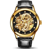 Chinese Dragon Watch (Gold and Black)