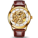 Chinese Dragon Watch (Gold and Brown)