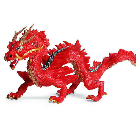 Chinese Red Dragon Figurine