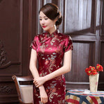Chinese Red Dress with Dragons