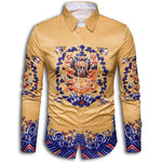 Chinese Style Button Shirt with Dragon