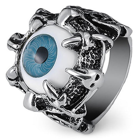 Very Cool Dragon Eye Ring (blue)