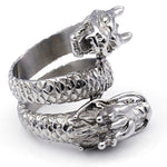 Chinese Double-headed Dragon Ring (Stainless Steel)