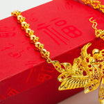 Dragon And Phoenix Gold Necklace