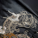 Dragon Embroidered Bomber Jacket