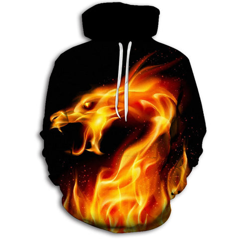 Dragon Fire Hoodie (Red)