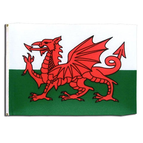Flag of Wales with the Red Dragon