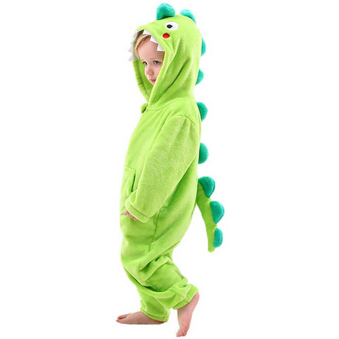 Green Dragon Pajamas for Toddlers