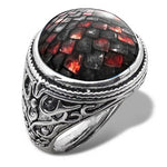 Dragon Scale Ring for Men (Hellish Black)