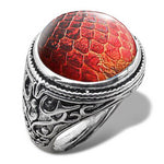 Dragon Scale Ring for Men (Flamboyant Red)