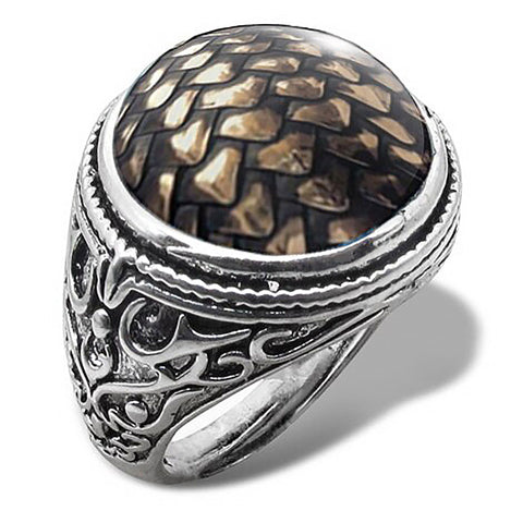 Dragon Scale Ring for Men (Shiny Bronze)