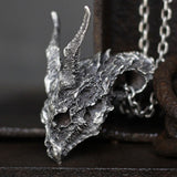 Dragon Skull Pendant (Stainless Steel)