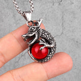 Dragon Stone Pendant (Stainless Steel)