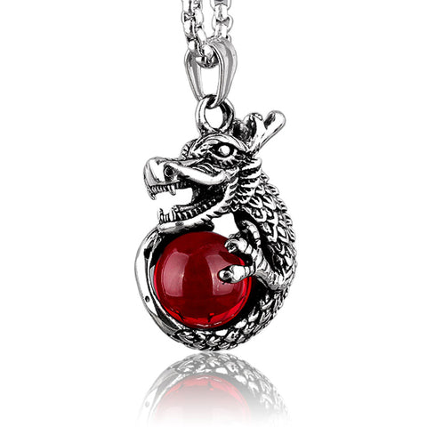 Dragon Stone Pendant (Red)