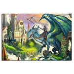 Dragon and Warrior Puzzle