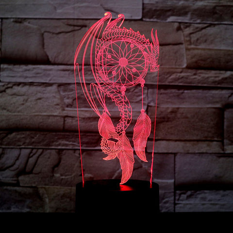 Dreamcatcher Dragon Night Light