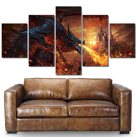 Fire Breathing Dragon Painting