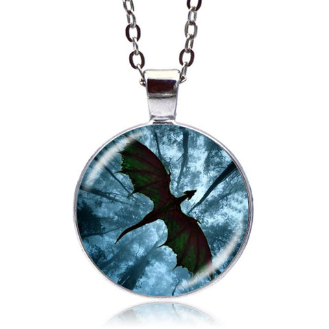 Forest Dragon Necklace (Silver)