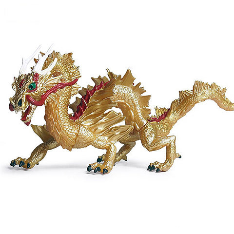 Gold Chinese Dragon Figurine