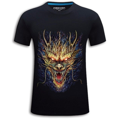 Gold Dragon on Black T-shirt